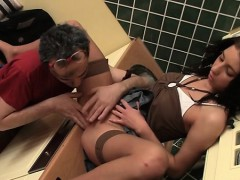 Teen Gets Shaved Fur Pie Licked And Screwed By Old Shlong