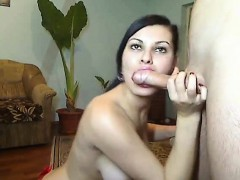 Busty Czech Model Sits On A Cock