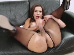 Busty Tranny Gabrielli Bianco Strokes Her Big Cock