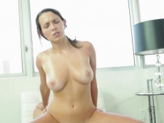 Busty Girlfriend Drenched With Lovers Cum