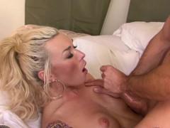 Busty Trans Beauty Plows Hubby Ass Balls Deep