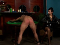 female-dominator live out her fetish humping maid with toy