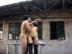 Insolent Asian babe hard fucked and jizzed on pussy