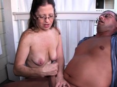 mature slut tugging hard dick outdoors WWW.ONSEXO.COM