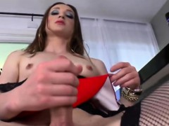 Ts Jacqueline Woods Toyfucks Herself Hard