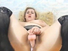 Busty Bbw Mature Has Really Creamy Pussy