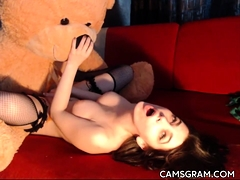 Slutty Busty Camwhore Filmed Herself In A Hot Solo Act