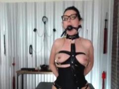 Girl In Latex Hidden Sex Room