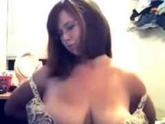 Busty Chubby Teen Squeezing Tits