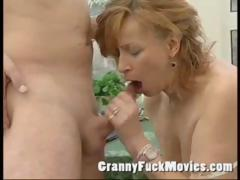 Eager To Fuck And Cum Grandma