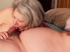 Older Lady Sucking A Cock Like A Pro