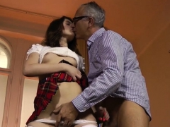 Whore Likes Getting Her Bawdy Cleft Destroyed By Old Fellow