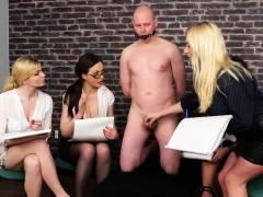 Slave Pleasured By 4 Hot Skanks