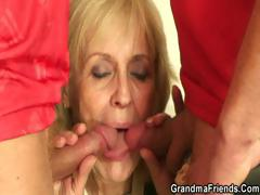 blonde-granny-pleases-two-friends