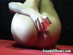 blond-striper-showing-off-her-skills