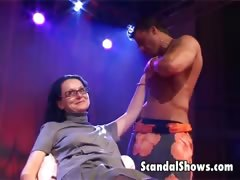 male strippers strip down for a woman