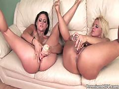 Milf Lesbians Using Different Calibres