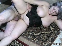 Busty Old Woman Gets Horny Part1