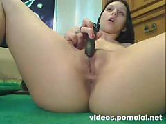 Real Orgasm 1 - Brunette Teen Dildo Play Orgasm