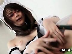 sweet-asian-maid-in-glasses-masturbates-hairy-pussy