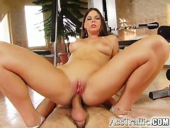 The Stunning Brunette Simona Gets Her Ass Ready For Some