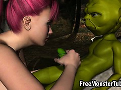 Foxy 3d Redhead Sucking On Yoda Rock Hard Cock