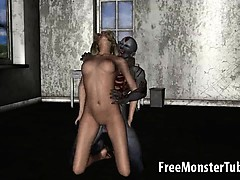 Hot 3d Blonde Honey Getting Fucked Hard By A Zombie