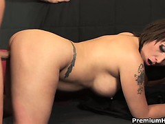 Extreme Milf Sophia Enjoys Her Pierced Snatch Filled With