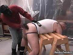 Horny Large Guy Gets Down On His Knees And Blows Penis