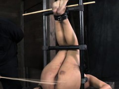 Suspension Bondage Slut Being Punished