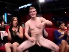 Real Cfnm Babe Swallows Stripper Cum