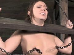 Bdsm Hogtied Bondage Sub Nipple Punished