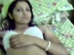 Indian Schoolgirl Teasing Her Body