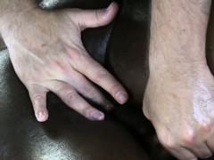 Black Straight Jock Amateur Massaged