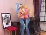 Sexy Blonde Lesbians