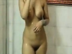 Wet Indian Girl In The Bath Tub