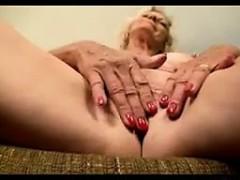 Busty Grandma Masturbating