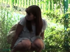 Sexy Japanese Girl Pisses In Public
