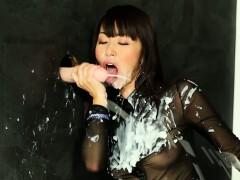 Hot Glam Asian Gets Slime