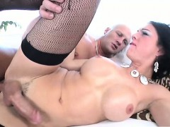 Rimming Shemale Tranny Gets Ass Fucked