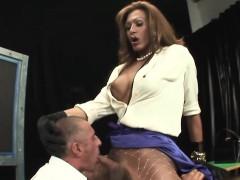 Hot Italian Tgirl Sucked