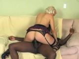 Coco Velvett In Sexy Stocking Enjoys Big Black Cock