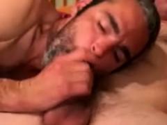 Hairy Bear Sucks In Want Of That Cumshot