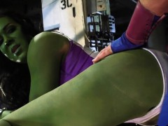 Green Superhero Getting Fucked Hard