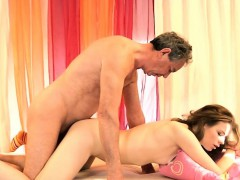 Old Man Fucks Horny Teen The Fourth Time