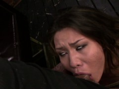Fetishnetwork Mena Li Submissive Slave Gives Deepthroat Bj