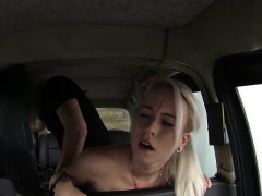 Sexy Amateur Blond Girl Sucks Cock And Fucked By Fake Driver