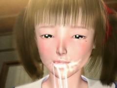 Busty 3d Anime Schoolgirl Gets Cummed