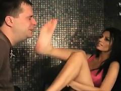 Kinky Milf Gets Her Hot Feet Worshipped