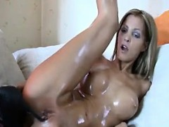 Horny Chick Masturbating With Her High Heel